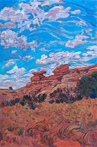 Canyonlands Utah oil painting by contemporary impressionist artist Erin Hanson