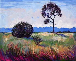 Dramatic California landscape painting of Paso Robles, by Erin Hanson