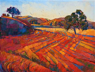 Pastoral Light, original oil painting of Paso Robles, by Erin Hanson