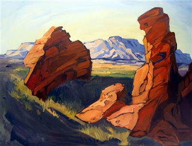 Seven Sisters II, Valley of Fire oil painting by Erin Hanson