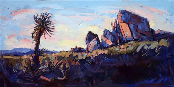 Yucca at Joshua, original artwork by Erin Hanson.