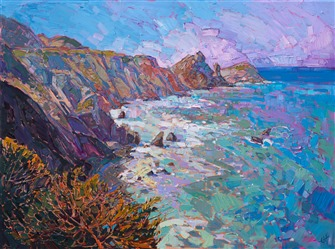 California coastal painting by contemporary landscape artist Erin Hanson.