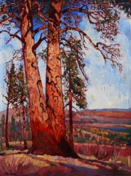 Zion high plateau landscape painting, by modern adventurer and painter Erin Hanson