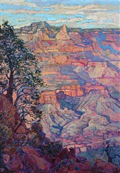 Contemporary artwork of the Grand Canyon, Arizona landscape painting by impressionist painter Erin Hanson.