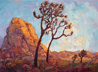 Joshua Tree colorful oil painting by La Quinta Festival artist Erin Hanson