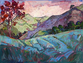 Open Impressionism oil painting by California artist Erin Hanson