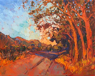 Contemporary California impressionism, by landscape oil painter Erin Hanson