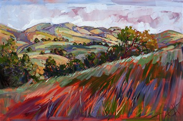 Colors at Paso, original impressionism work by Erin Hanson