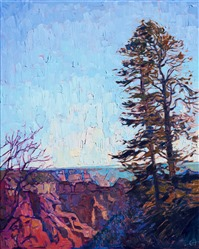 Grand Canyon north rim oil painting by American impressionist Erin Hanson