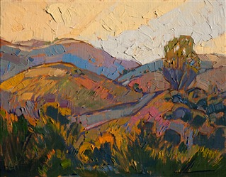 Central California landscape oil painting by impressionist artist Erin Hanson