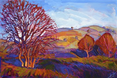Striking color and composition by California artist Erin Hanson