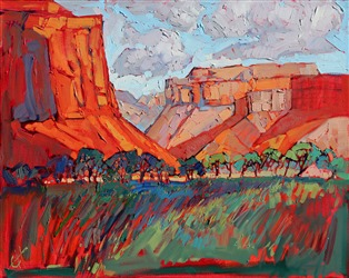 Canyonland National Park, original oil painting in abstract impressionism, by Erin Hanson