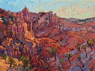 Bryce Canyon oil painting by Utah impressionist painter Erin Hanson