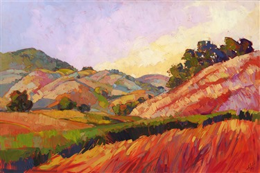 Paso Robles wine country landscape by impressionism painter Erin Hanson