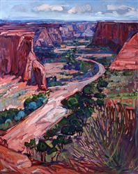 Canyon de Chelly monumental oil painting by Erin Hanson