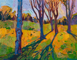 Big Canyon golf course landscape painting, by Erin Hanson.