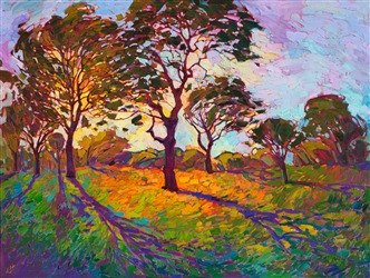 Impressionism oil painting in the Crystal Light Series, by Erin Hanson.
