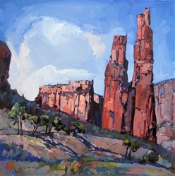 Spider Rock at Canyon de Chelly, oil painting by Erin Hanson
