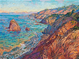 Mendocino northern California coast painting by wine country painter Erin Hanson.