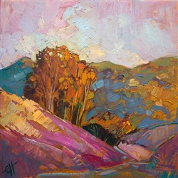 California eucalyptus trees painted in impressionist style by Erin Hanson
