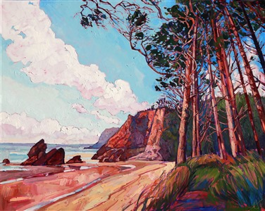 Oregon coastal landscape oil painting by Erin Hanson