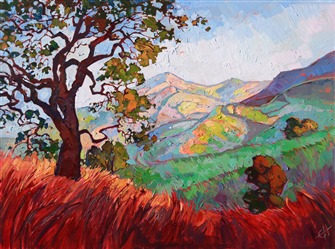 Paso Robles wine country landscape painting by Erin Hanson
