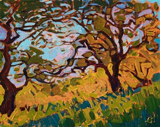 Paso Robles wine country painting by Erin Hanson