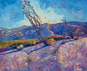 California impressionist painter Erin Hanson brings Joshua Tree Park to life in vivid oils.