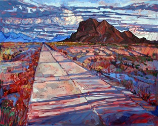 Pioneering artist Erin Hanson paints Arizona Highway in bold, expressive oils.