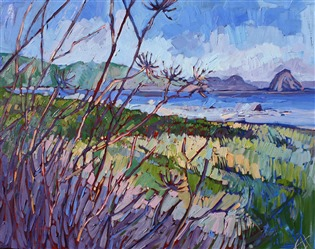 California seascape in impressionist oils, by artist Erin Hanson