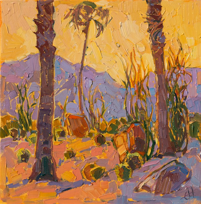 Where to buy California desert impressionism paintings online by Erin Hanson