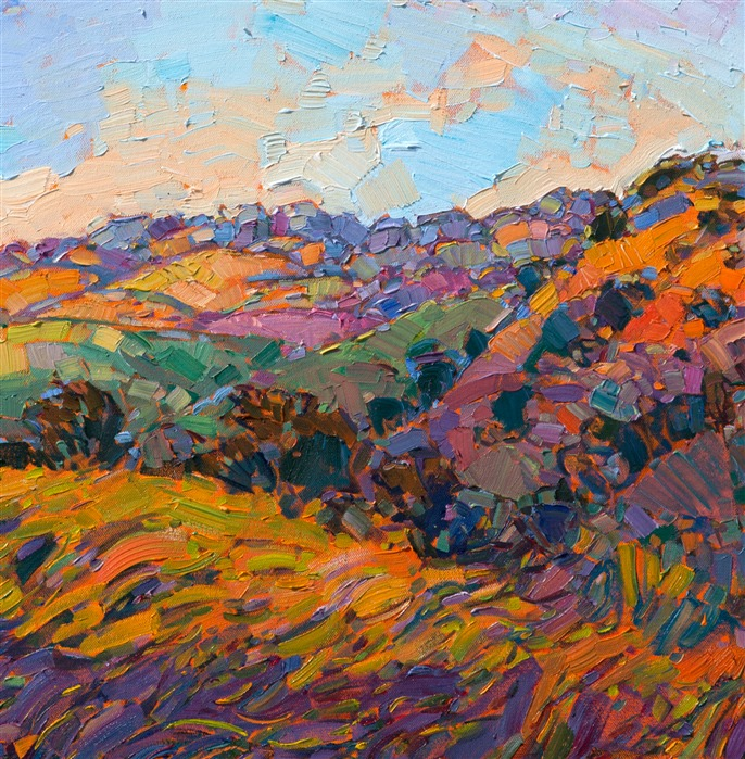 Close-up view of Apricot Dawn, by Erin Hanson.