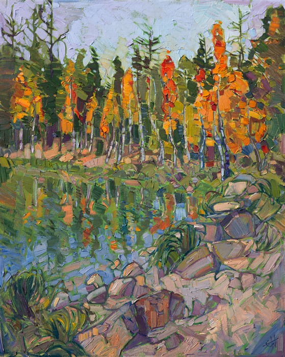National Park painting captured in vivid oils by contemporary artist Erin Hanson.