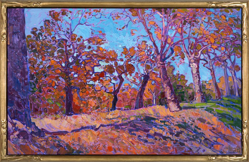 Autumn Orange in a stunning Open Impressionism frame.