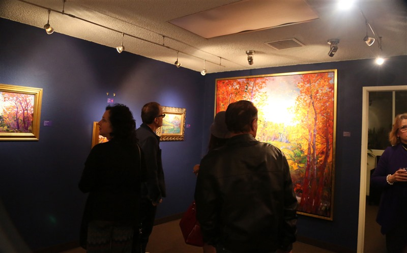 The Erin Hanson Gallery open house event