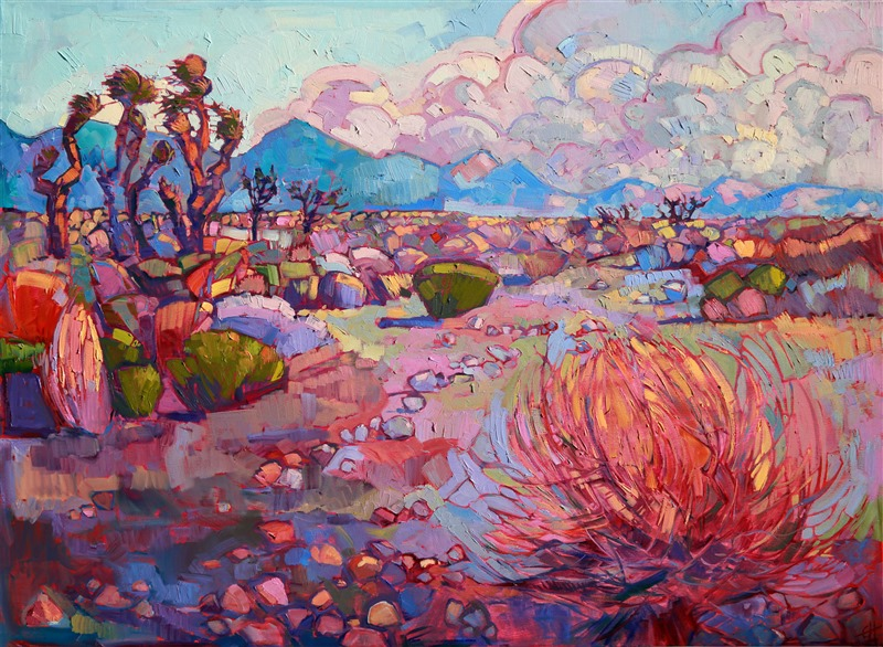 Red Rock Canyon, retrospective painting by Erin Hanson