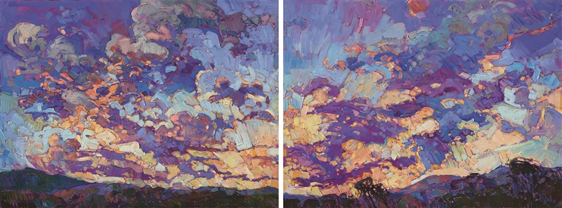 Famous Texas landscape painter Erin Hanson creates contemporary impressionist oil paintings.
