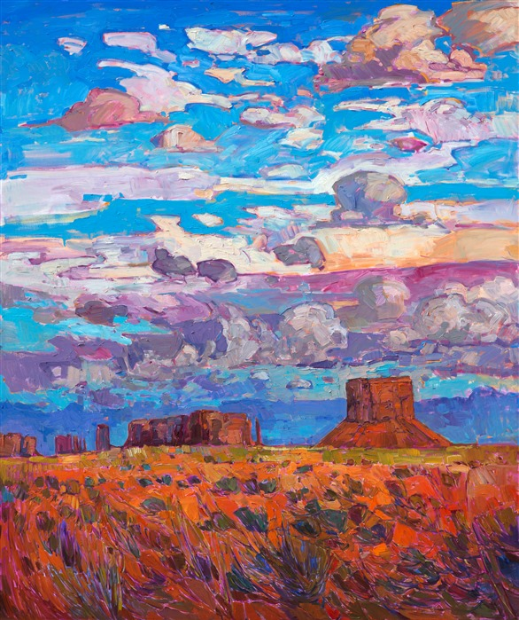 Four corners oil painting landscape near Monument Valley, Utah.