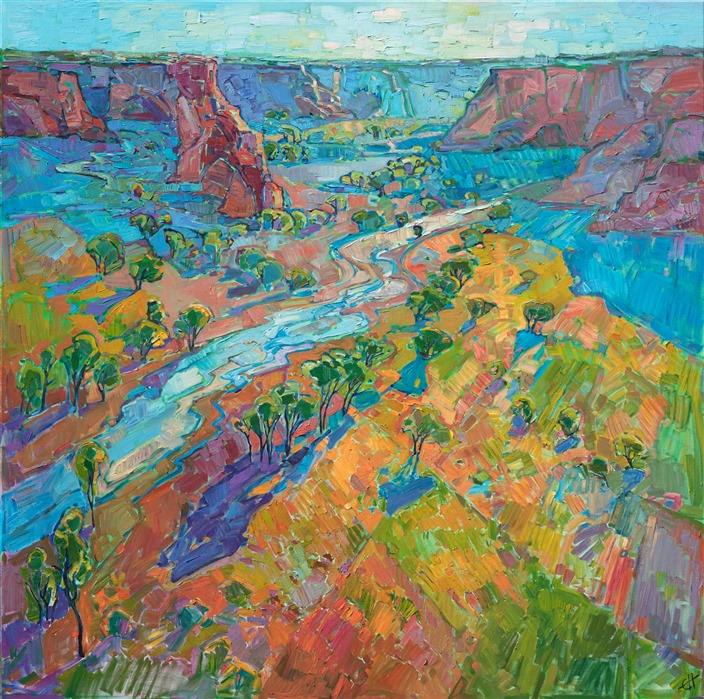 Arizona canyon painting by modern abstract impressionist Erin Hanson.