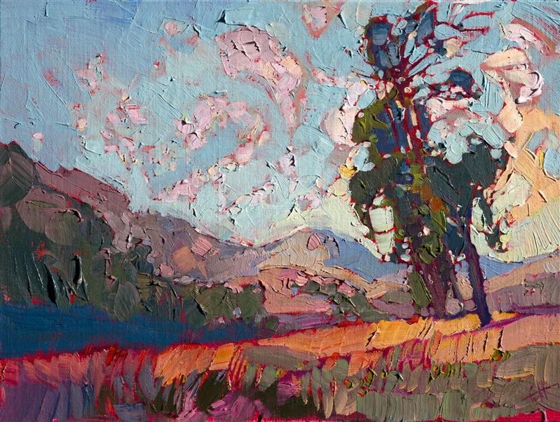 Modern impressionism oil painting by contemporary artist Erin Hanson