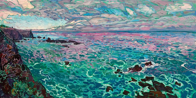 Northern California oceanscape original oil painting by Erin Hanson