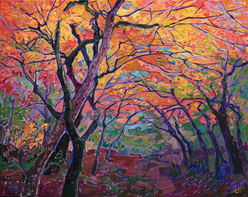 Autumn Fall Colors Painted By Modern Impressionist Erin Hanson