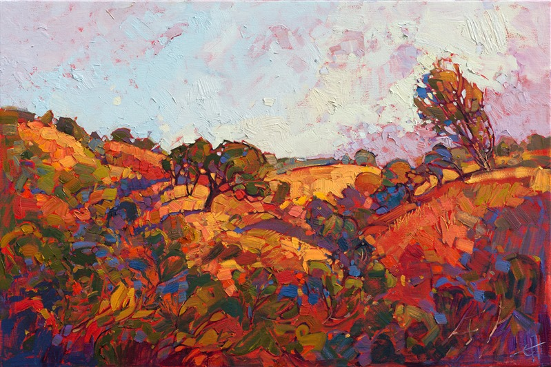 Paso Robles, California wine country impressionism oil painting landscape for sale