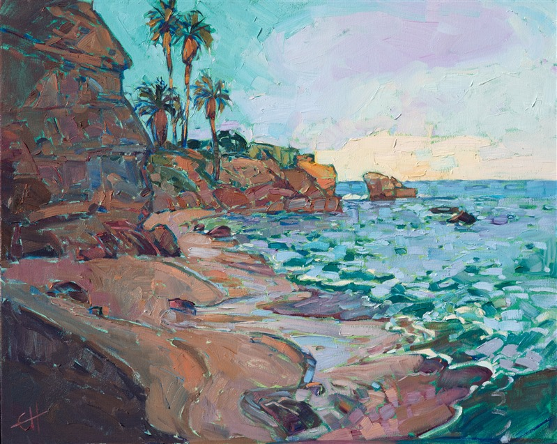 La Jolla Cove oil painting by Erin Hanson