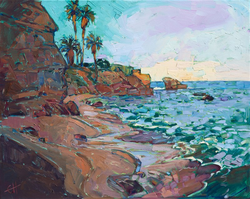 La Jolla Cove impressionistic contemporary seascape by Erin Hanson