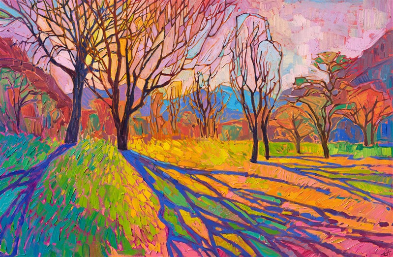 Crystal Light original abstract impressionist landscape by Erin Hanson