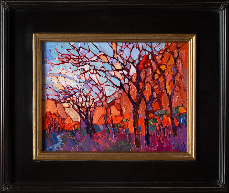 Crystal Zion, framed petite oil painting by Erin Hanson