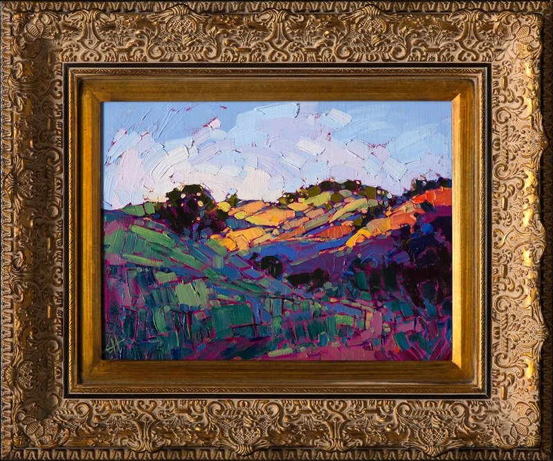 Beautiful, vivid brushstrokes capture the hills of Wine Country, by Erin Hanson.