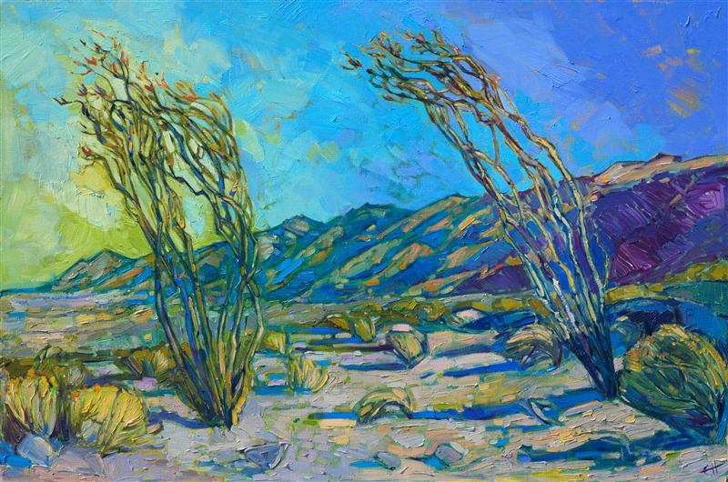 Fine example of modern impressionism by oil painter Erin Hanson.
