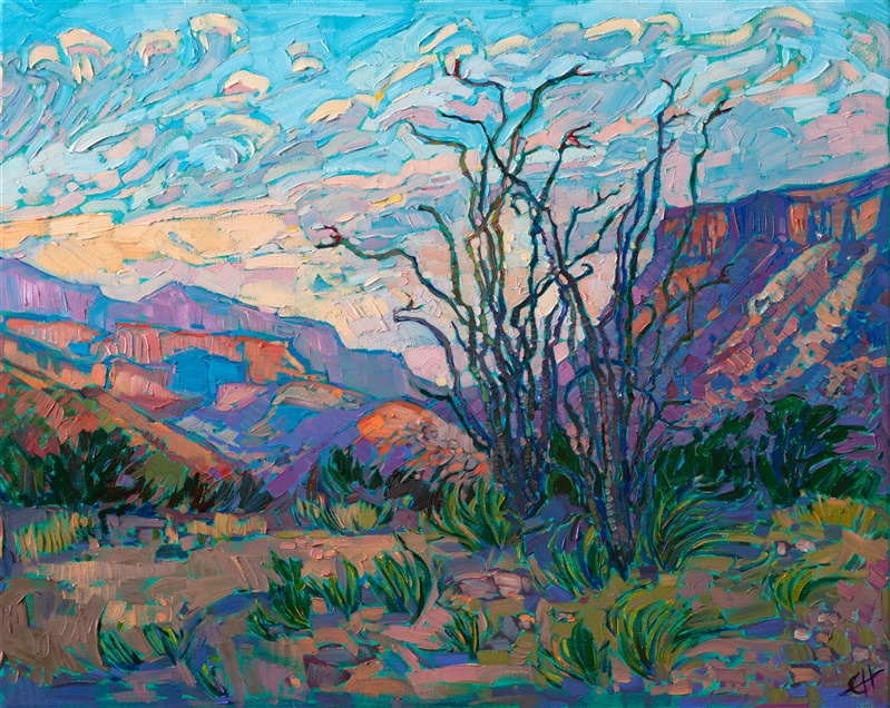 Big Bend National Park oil painting by modern landscape painter Erin Hanson
